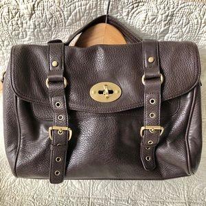 Mulberry Alexa brown vegan pebble leather bag EUC
